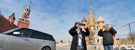 Кларксон и Хаммонд на Красной площади