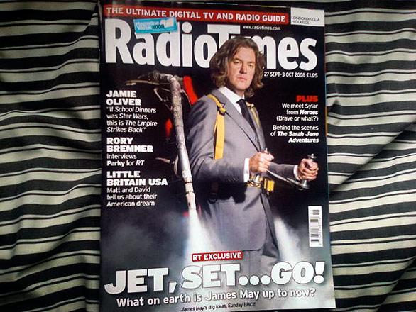 Джеймс Мэй на обложке журнала RadioTimes