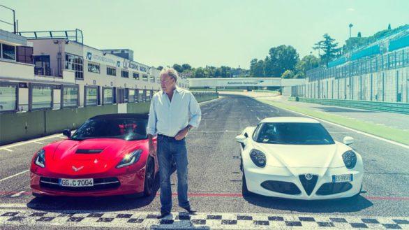 Шевроле Корвет Стингрей и Альфа Ромео 4с Top Gear