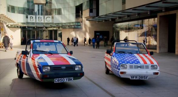 США против Великобритании гонка трехколесных авто