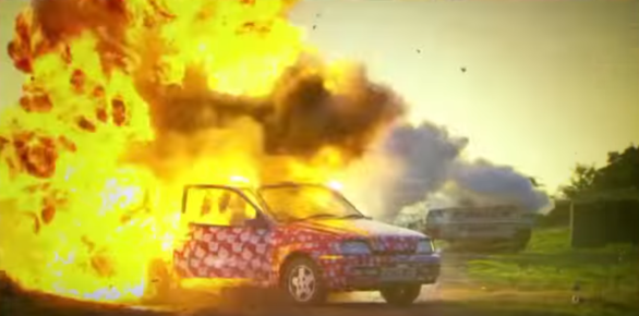 взрыв Форда в программе Топ Гир