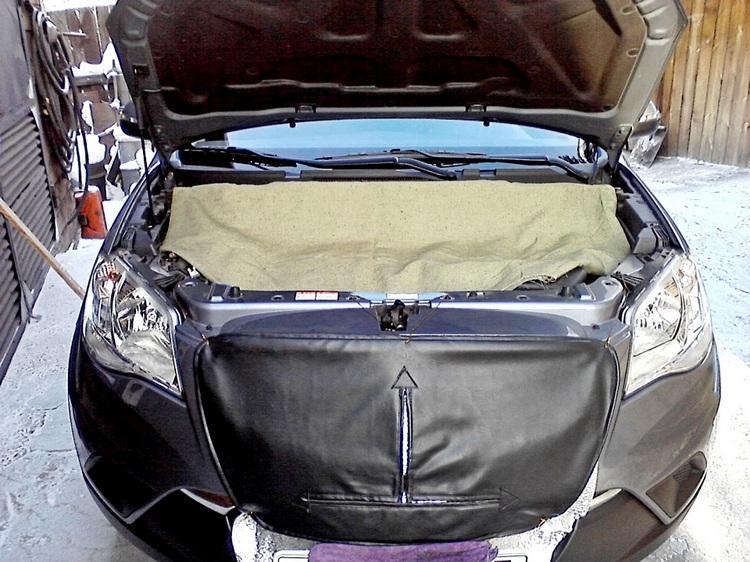 Как утеплить авто на зиму своими руками