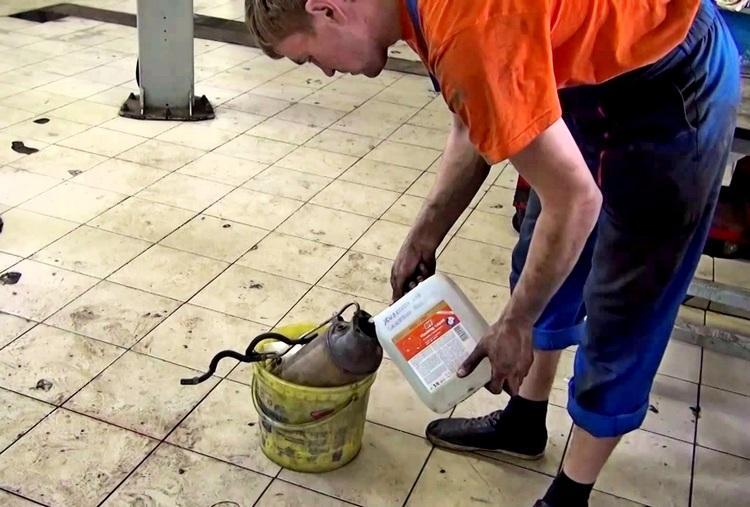 Промывка катализатора