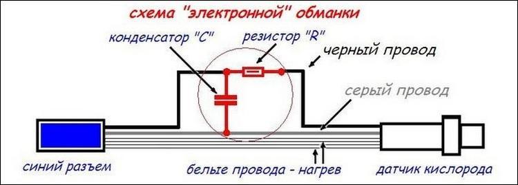 Схема электронной обманки ЛЗ