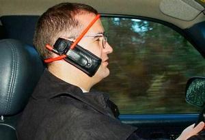 Разговор в машине по телефону