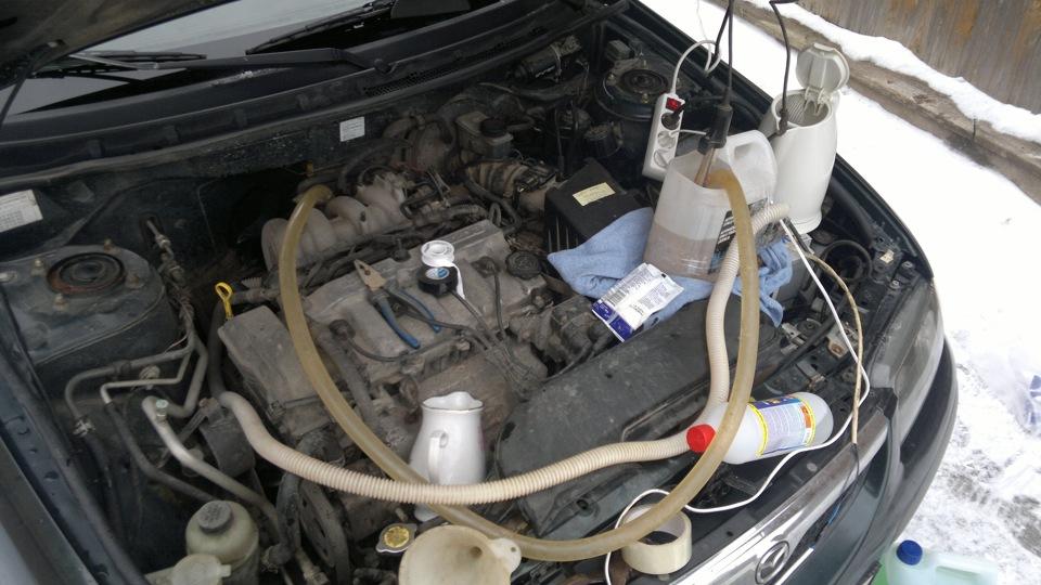 Какое средство лучше использовать для промывки радиатора печки автомобиля?