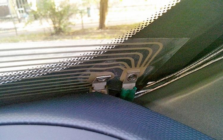 Подключение подогрева лобового стекла