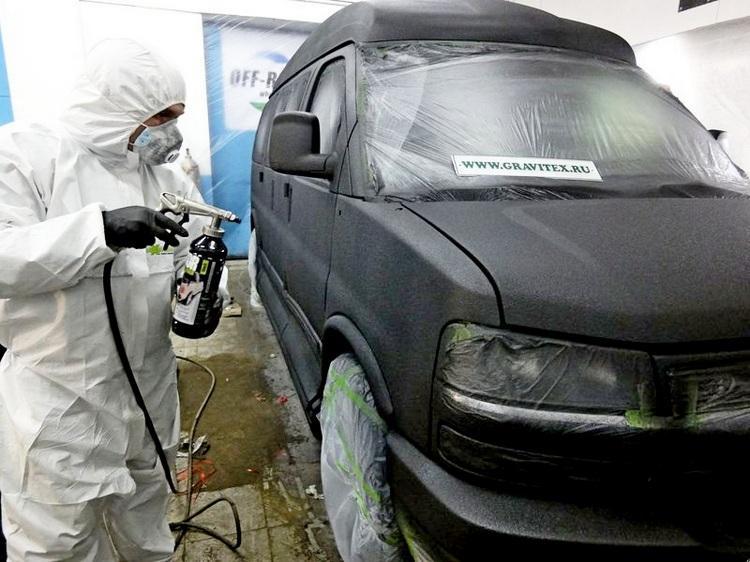 Покраска авто защитной краской «Раптор»