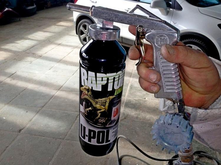 raspyilitel Raptor 750 - Фото машин покрашенных раптором