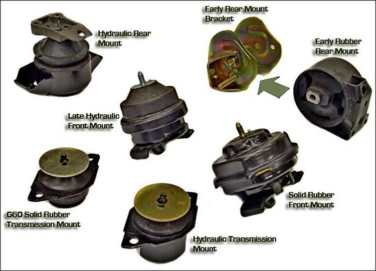 Замена опорных подушек двигателя автомобиля
